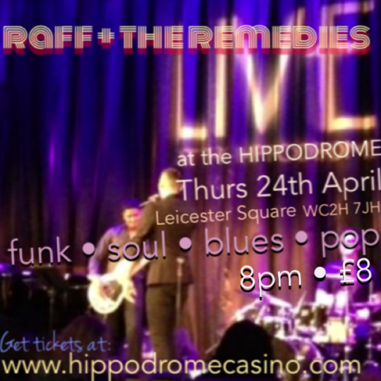 Raff Live at the Hippodrome